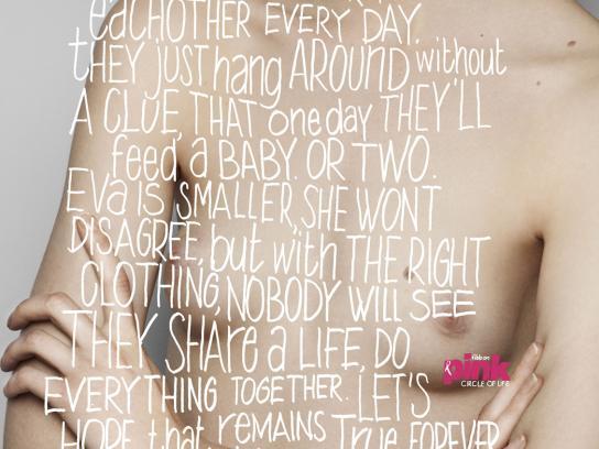 Pink Ribbon Print Ad -  Circle of life, Young