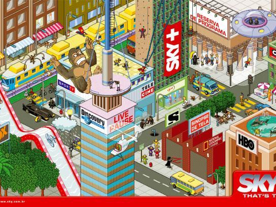 SKY Print Ad -  King Kong