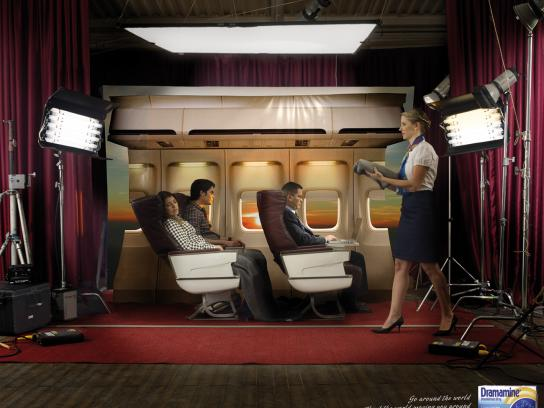 Dramamine Print Ad -  Plane