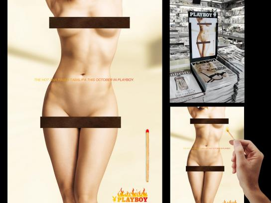 Playboy Ambient Ad -  Hot