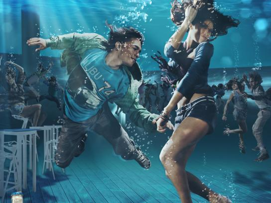 Polar Light Print Ad -  Submerged dance