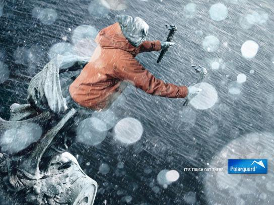 Polarguard Print Ad -  It's tough out there, 1