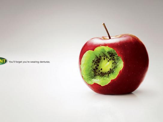 Polident Print Ad -  Apple