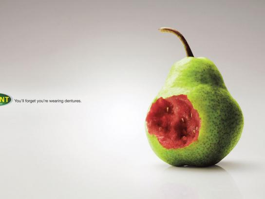 Polident Print Ad -  Pear
