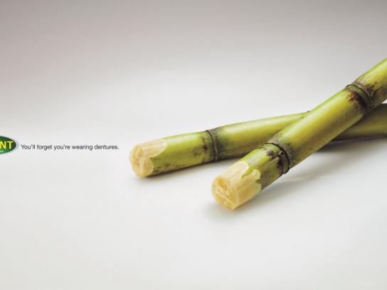 Polident Print Ad -  Sugarcane
