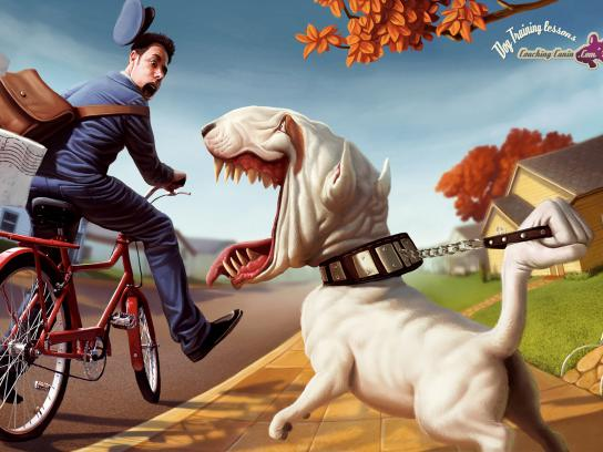 Coaching-canin.com Print Ad -  Postman