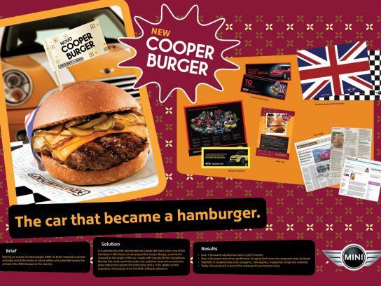 Mini Print Ad -  The Car That Became a Hamburger