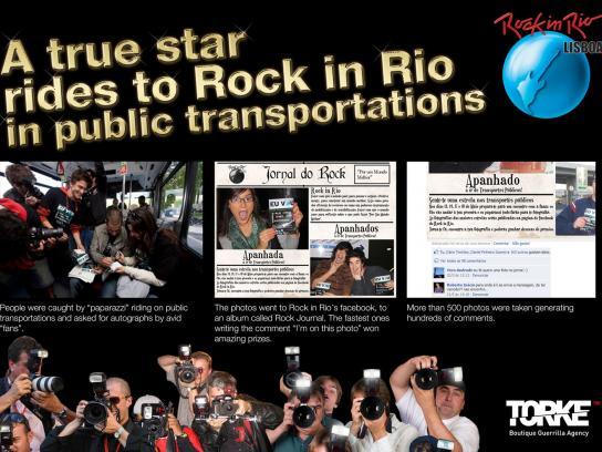 Rock in Rio Ambient Ad -  True stars ride to Rock in Rio in public transport