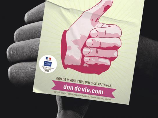 Don de Vie Print Ad -  Platelets