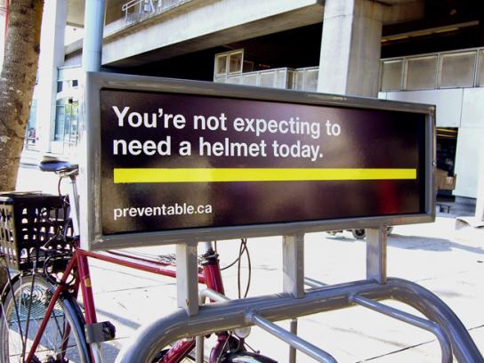 The Community Against Preventable Injuries Outdoor Ad -  Bicycle