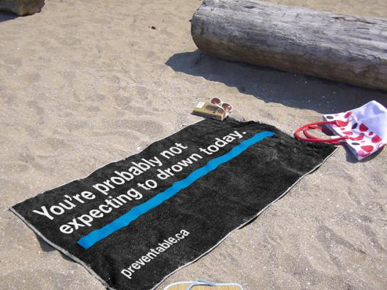 The Community Against Preventable Injuries Ambient Ad -  Towel