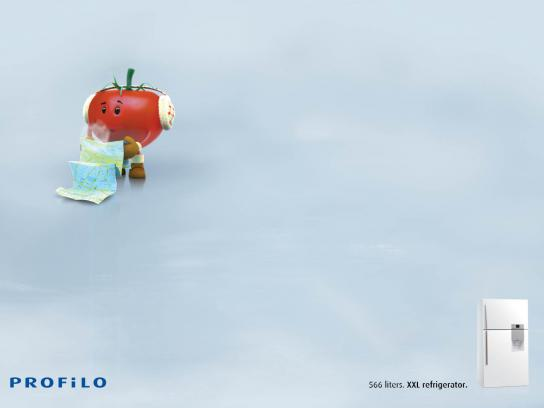 Profilo Print Ad -  Lost Vegetables, Tomato