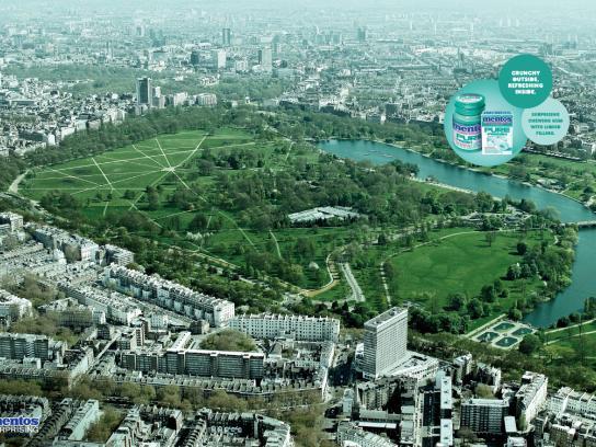 Mentos Print Ad -  Hyde Park, London