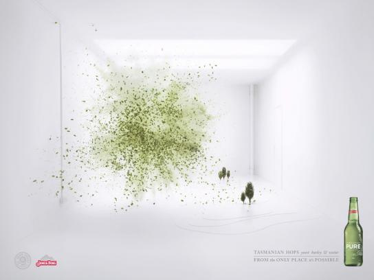 James Boag's Pure Print Ad -  Explosions, Hops