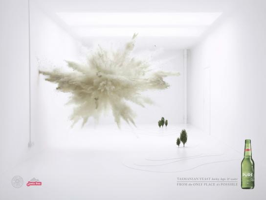 James Boag's Pure Print Ad -  Explosions, Yeast