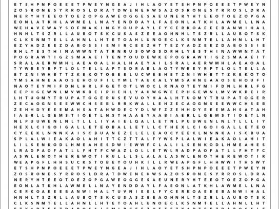 RAC Insurance Print Ad -  Word search