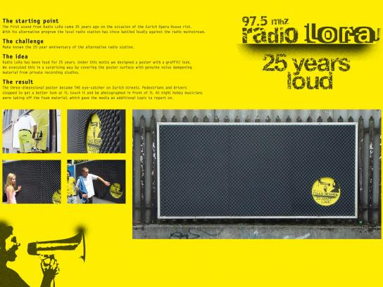 Radio Lora Ambient Ad -  25 years loud