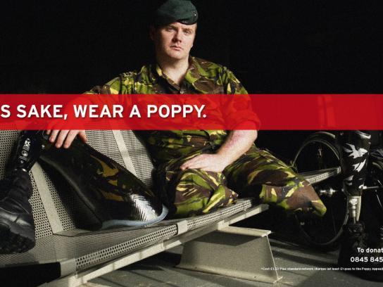 Royal British Legion Print Ad -  Poppy Appeal 2009, 1