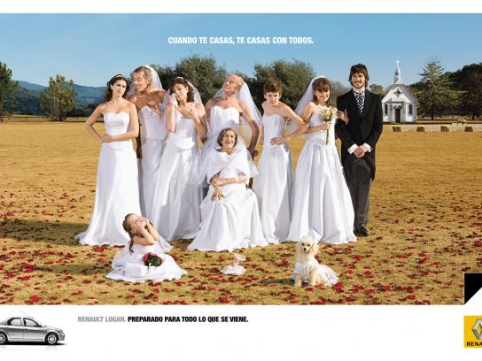 Renault Print Ad -  Wedding