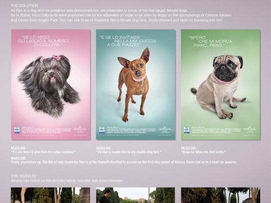 Hallmark Channel Outdoor Ad -  Dog billboards