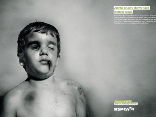 RSPCA Print Ad -  Boy