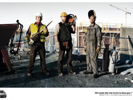 Renault Print Ad -  Bad Boys, Construction
