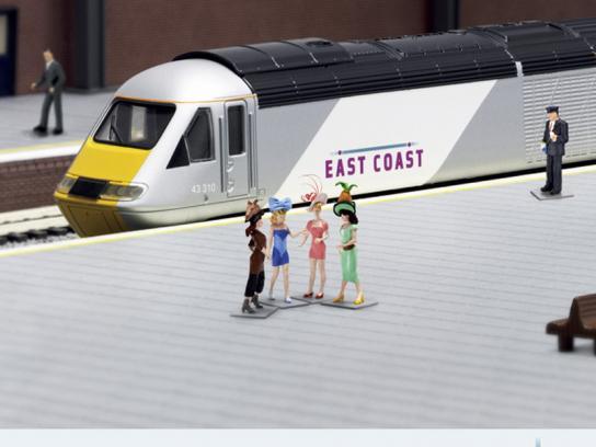 East Coast Trains Print Ad -  Miniature Prices, Racing ladies