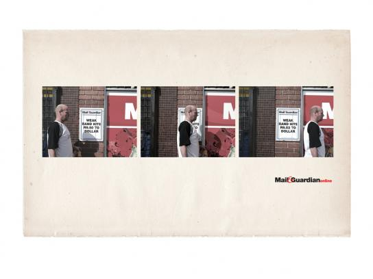 Mail & Guardian Print Ad -  Rand exchange rate