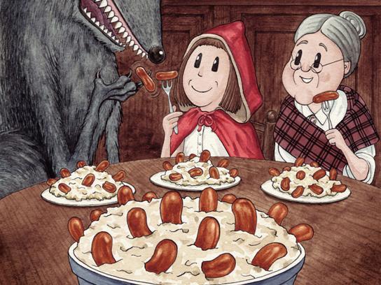 Hall's Print Ad -  Red Riding Hood