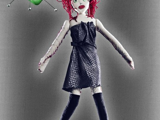 Harvey Nichols Print Ad -  Dolls, Redhead