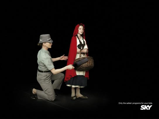 SKY Print Ad -  Little red riding hood