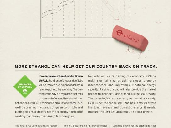 Growth Energy Print Ad -  Ethanol campaign, Chart