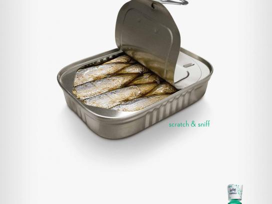 Scope Print Ad -  Relentlessly Fresh Sardines