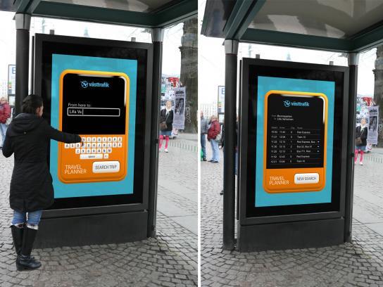 Västtrafik Outdoor Ad -  Travelplanner
