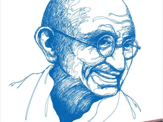 Rotomac Print Ad -  Gandhi