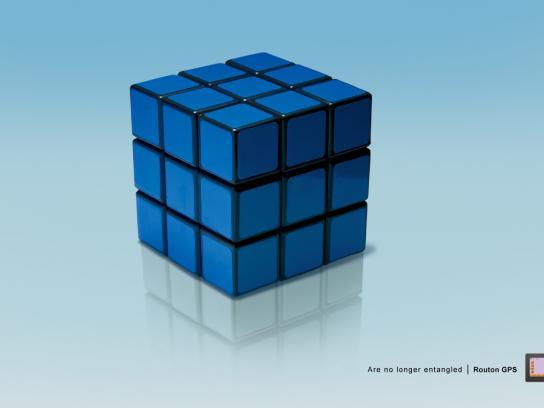 Routon Print Ad -  Rubik's cube