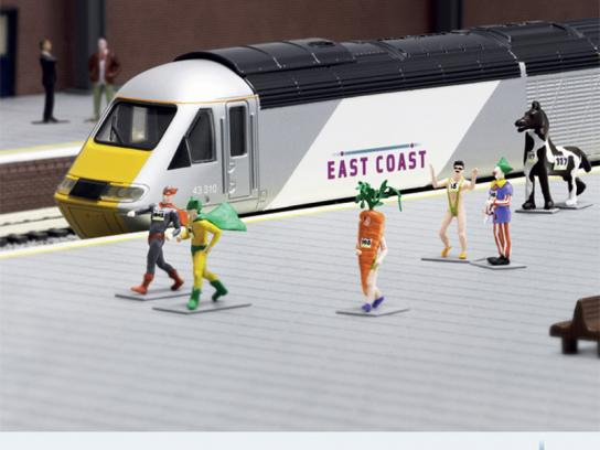 East Coast Trains Print Ad -  Miniature Prices, Runners