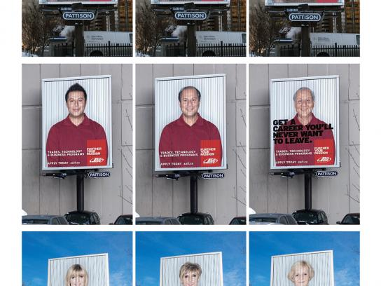 SAIT Outdoor Ad -  Aging billboards