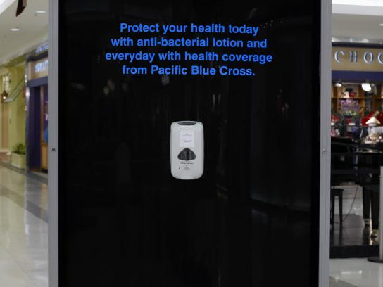 BlueCross Ambient Ad -  Sanitizer