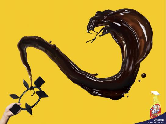 Mr Muscle Print Ad -  Snake