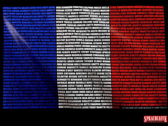 Sprachcaffe Print Ad -  French