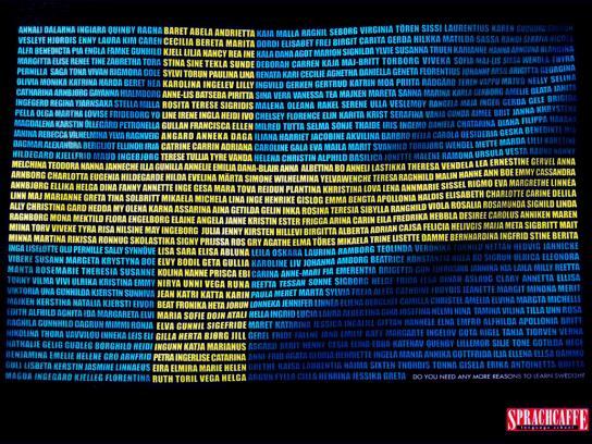 Sprachcaffe Print Ad -  Swedish