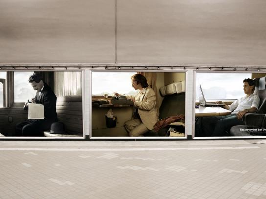 Swedish Railways Outdoor Ad -  Writers