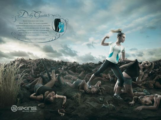Skins Print Ad -  Defy genetics, 1