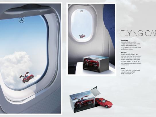 Mercedes Ambient Ad -  Flying car