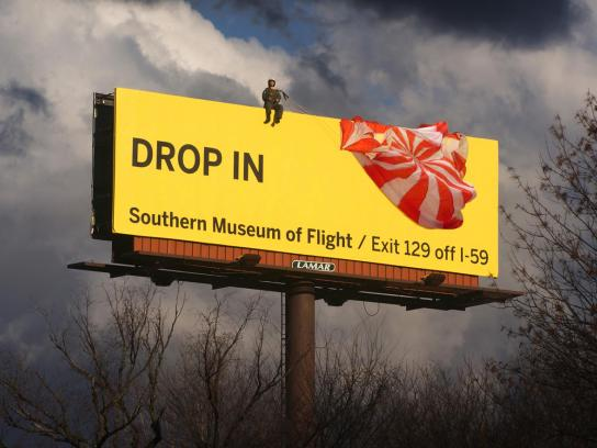 Southern Museum Of Flight Outdoor Ad -  Drop In