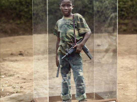 Save the Children Outdoor Ad -  Child soldier