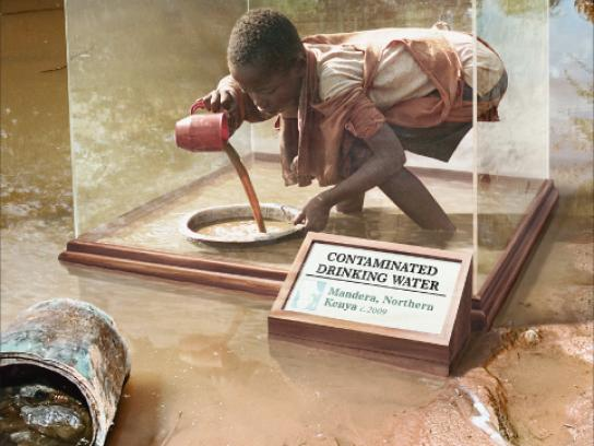 Save the Children Outdoor Ad -  Contaminated drinking water