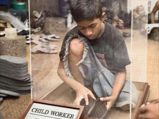 Save the Children Outdoor Ad -  Child worker