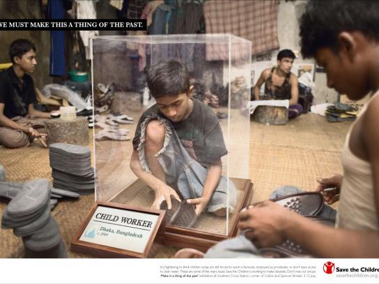 Save the Children Print Ad -  Child worker